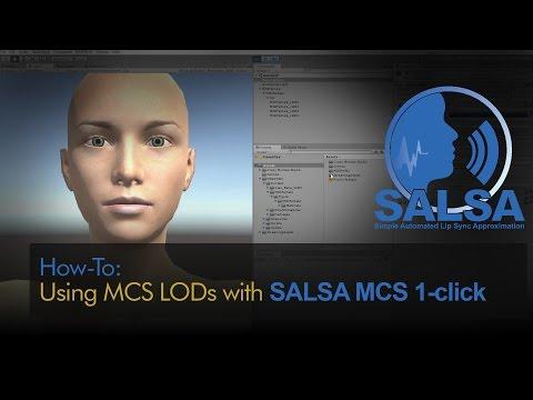 Using SALSA Lip-Sync's MCS 1-Click with MCS LODs