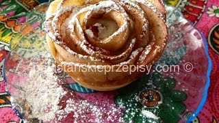Jabłkowe różyczki  z ciasta francuskiego -  Apple roses