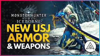 Monster Hunter World | New USJ AZURE ERA Armor & Weapons + Armor Skill Breakdown