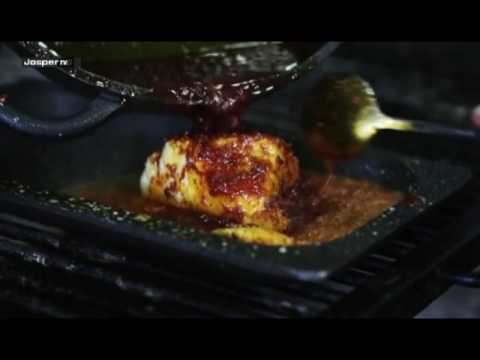Video Cod fish with sanfaine sauce Charcoal oven - Engels