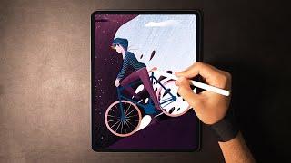 Cycling - Digital Illustration