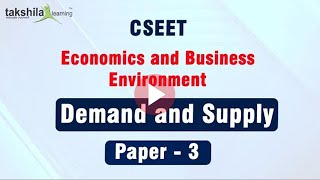 CSEET Demand and Supply ~ CS Executive Entrance Test ~ Economic and Business Environment