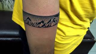 Best Band Tattoo - How To Make Best Band Tattoo - Band Tattoo Time Lapse