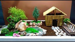 How To Make Fairy Garden With Mini Fountain / DIY