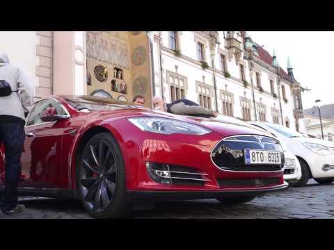První setkání elektro aut v Olomouci