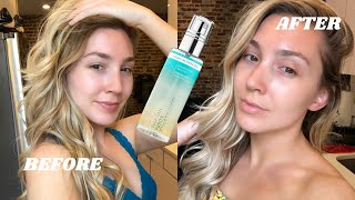 St. Tropez Self Tan Purity Bronzing Water Face Mist Tutorial & Review   with bloopers