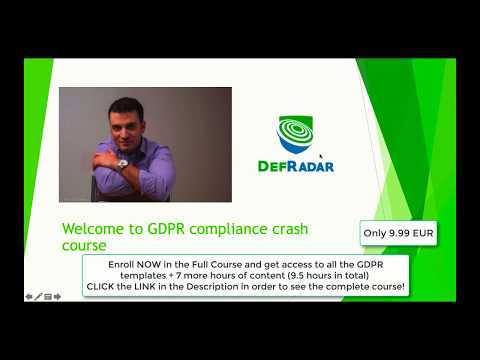 Learn GDPR Data Protection Compliance from scratch with practical ...