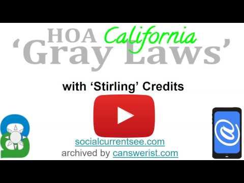 Thumbnail for #HOA 'Gray Laws'▶ #SocialCurrentSee