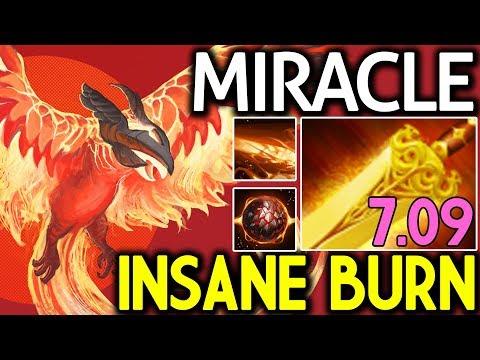 Miracle- Dota 2 [Phoenix] Insane Burn with Radiance Build