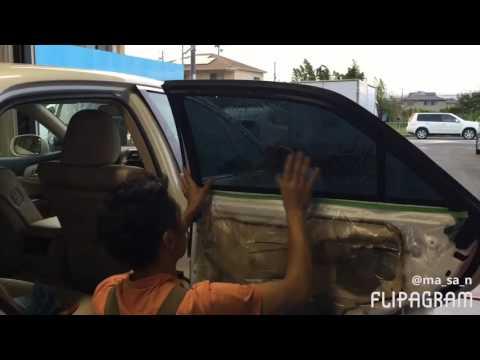 トヨタ クラウンの窓ガラスをカーフィルム施工し、プライバシー保護!