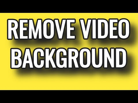 HOW TO REMOVE VIDEO BACKGROUND WITHOUT GREEN SCREEN Fast Online FREE SITE