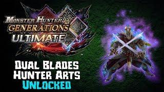MHGU - Unlocking Dual Blades Hunter Arts