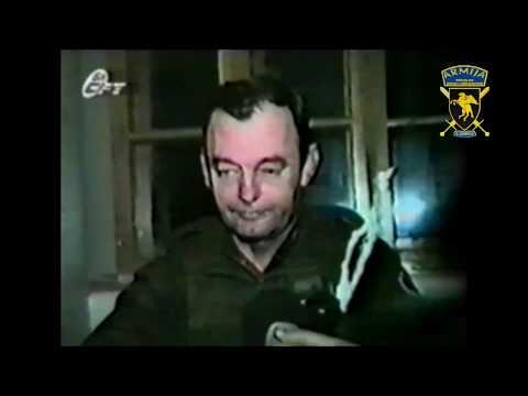 GENERAL MANOJLO MILOVANOVIĆ SA ZAROBLJENIM PRIPADNICIMA 5.BATALJONA 5.KORPUSA 1994.GODINE