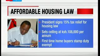 President Uhuru signs to law Income Tax Act