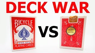 Deck War - Bicycle Rider Back VS Bicycle Gold Standard [HD]