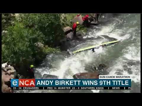 Andy Birkett has won his 9th Dusi Canoe Marathon title