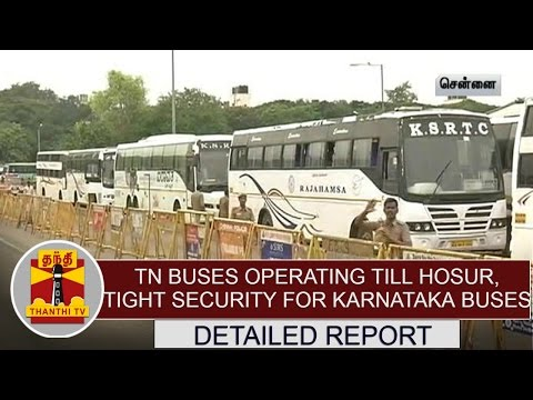 TN-Buses-operating-till-Hosur-Tight-security-for-Karnataka-Buses-at-Koyambedu