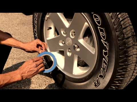 HOW to plasti Dip wheels  Without Removing Jeep Wrangler 2012 DOZER