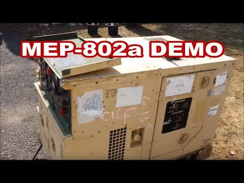 DEMO MEP802a 5kw Military generator walk around features