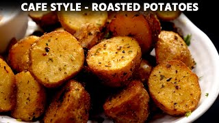 Roasted Potatoes Recipe [no oven] - Cafe Style with Secret Ingredient - CookingShooking