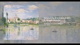 Symphony no. 40 in G minor, K. 550