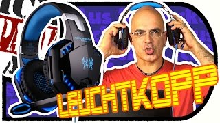 KOTiON EACH G2000 - Preiswertes Over Ear Gaming Headset mit Blinke-Blinke (Unboxing/Ersteindruck)