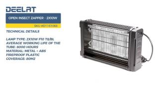 Open Insect Zapper - 2x10w