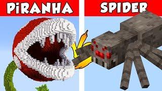 PiRANHA vs SPIDER – PvZ vs Minecraft vs Smash