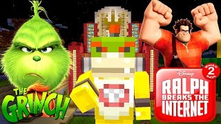 BOWSER JR'S MOVIE NIGHT! (THE GRINCH, WRECK IT RALPH 2) | Nintendo Fun House | Minecraft [384]