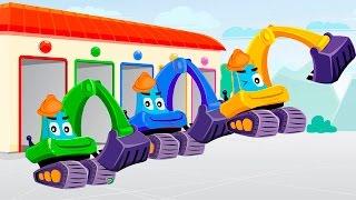 Мультфильмы - Учим английский язык для детей! Цвета для детей с машинками Мультики про машинки Видео