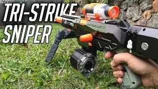 Nerf Tri-Strike Sniper Mod    Custom Nerf Tri-Strike