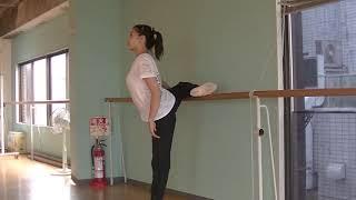 花咲先生のバレエレッスン~綺麗なアラベスクのために⑤~バーを使って上げる