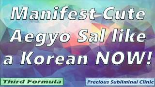 Get Cute Aegyo Sal just like an Ulzzang - 3rd Formula [Affirmation+Frequency] - INSTANT RESULTS