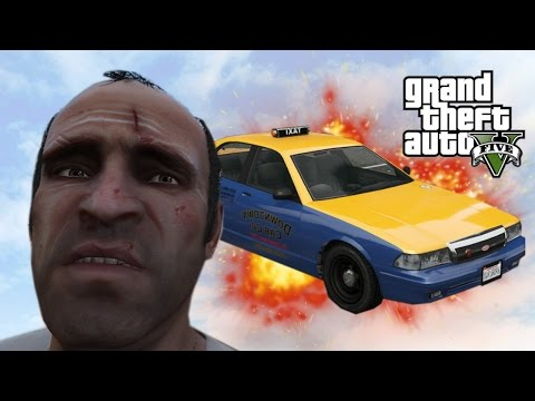 GTA V - Random Moments 20 (Worst Taxi Driver Ever!)