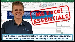 Excel Essentials - Session 1 (26 July 2019)