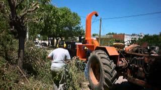 preview picture of video 'Chipeadora. Poda. Municipalidad de Monte Buey, Córdoba.'