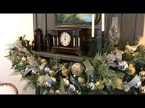 Christmas Mantel Garland - How To Decorate Your Mantel For Christmas