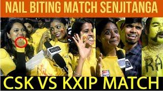 Dhoni Advice To Deepak Chahar !! Last Over செம்ம!! CSK VS KXIP Fans Reaction 😍😍😍