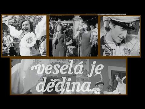Veselá je dědina ◎ Střihový pořad, kde vystupují folklorní soubory i populární zpěváci (1994)