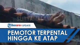 Viral Video Kecelakaan di Jalan Jember-Surabaya, Pemotor Terpental sampai ke Atas Atap Rumah Warga