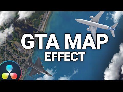 GTA Map Zoom Effect with Davinci Resolve (Tutorial)
