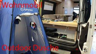 Duschen im Womo, Wohnmobil, Camper /Wassersteckdose / Duschzelt / Outdoor Dusche / Camping Dusche