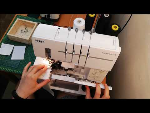 Videonávod: flatlock stitch, plochý šev, dekorativní šev. Pfaff Hobbylock 2.5.