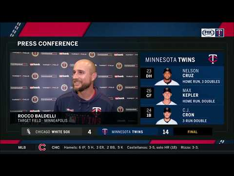 Manager Rocco Baldelli is a fan of the Twins' squirrel