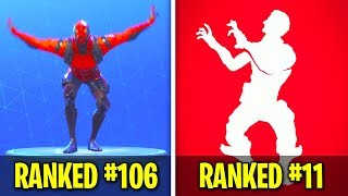 EVERY Fortnite Emote Ranked from WORST to BEST (109 Dances and Emotes)