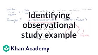 Worked example identifying observational study | Study design | AP Statistics | Khan Academy