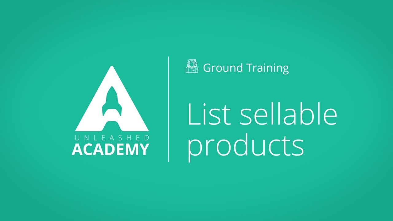 List sellable products YouTube thumbnail image