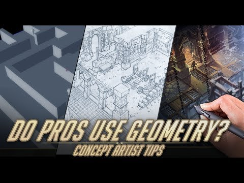 Do pro concept artists use geometry? - Concept artist tips. (видео)