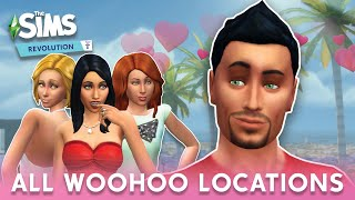 The Sims 4: ALL WOOHOO LOCATIONS (Base Game - Eco Lifestyle)