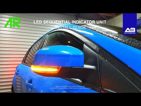 AUTOBEAM LED 501 SEQUENTIAL INDICATOR UNIT INSTALL! | FOCUS RS
